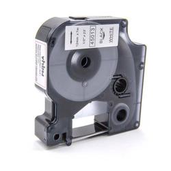 vhbw® Label Tape Kassette Patronen Schriftband 12mm für Dymo D1 2000, 3500, 4500, 5000, 5500 wie Dymo D1, 45013.