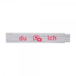 """Zollstock """"Du & Ich"""" (235x35 mm)"""