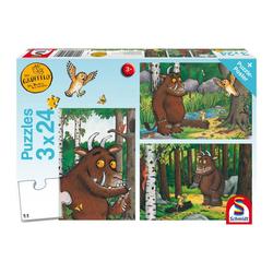Schmidt Spiele Puzzle Mein Freund der Grüffelo 3x24 Teile, 72 Puzzleteile bunt