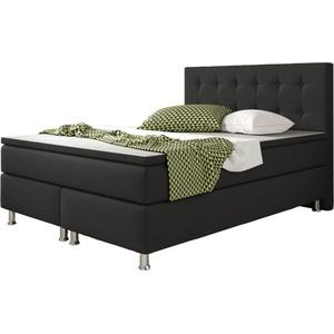 Inter Handels Boxspringbett Köln 140 x 200 cm, schwarz