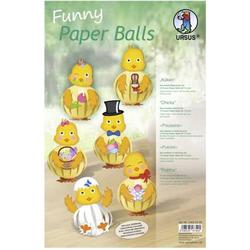 Funny Paper Balls 'Küken' Set für 12 Funny Paper Balls