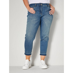 m. collection 5-Pocket-Jeans mit Dekoperlen am Saum 54