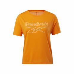 REEBOK Damen T-Shirt weiß / orange