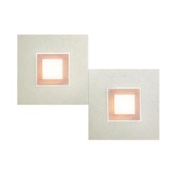 Grossmann Karree LED Wand- / Deckenleuchte perlglanz, 2-flg., Dim-to-Warm