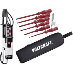 VOLTCRAFT VC 63 Zweipoliger Spannungsprüfer CAT III 1000 V, CAT IV 600V LED, LCD, Akustik