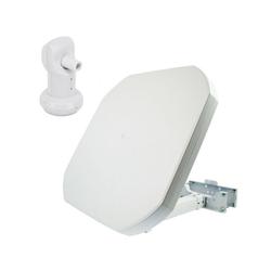 PremiumX FLAT43 Sat Flachantenne mit Single LNB - Satellitenantenne Digital Satellitenanlage für 1 Teilnehmer - 4K UHD FullHD HD SAT-Antenne