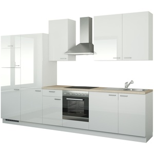 Küchenzeile mit Elektrogeräten ¦ weiß » Möbel Kraft