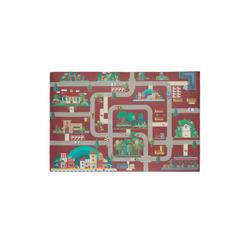 relaxdays Spielmatte Spielmatte Straße rot