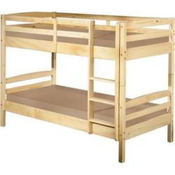 Licki Landhaus 90x200 Etagenbett Kiefer natur Doppelstockbett Kinderbett Bett