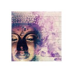 queence Holzbild Selma, Buddha (1 Stück) 50 cm x 50 cm