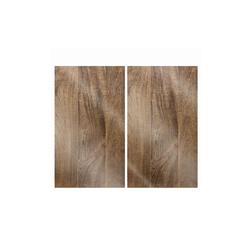 Glas Koch Herdabdeckplatten Cucina Holz, 30 x 52 cm