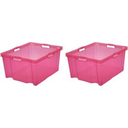 keeeper Aufbewahrungsbox franz (Set, 2 Stück) rosa