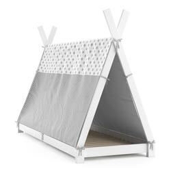 VitaliSpa® Kinderbett Kinderbett Hausbett Tipi + Überwurf 90x200cm Indianerzelt Indianerbett