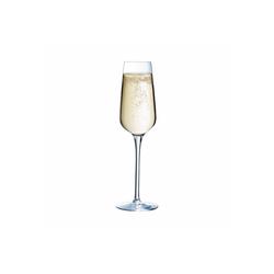 Chef & Sommelier Sektglas Sublym, Krysta Kristallglas, Sektglas Sektkelch 210ml Krysta Kristallglas transparent 6 Stück Ø 6 cm x 24 cm