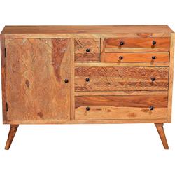 SIT Sideboard Carved, aus Sheesham Holz, Breite 120 cm