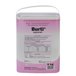 burti spezial von Burnus Waschmittel, Enzymatisches Bunt- und Feinwaschmittel, 5 kg - Trommel