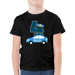 Shirtracer T-Shirt Polizei Geburtstag 4 - Geburtstag Kind - Jungen Kinder T-Shirt - T-Shirts tortendeko polizei 116 (5/6 Jahre)