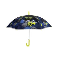 p:os Langregenschirm Cool Kids Regenschirm, Motiv Football, 48/8 grün