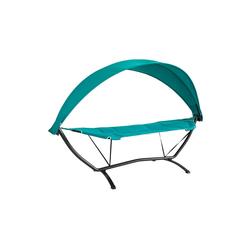 SoBuy Hängematte OGS51, mit Gestell Hängemattengestell mit Sonnendach Hängemattenständer Hängemattenhalter Outdoor Belastbarkeit 150kg blau
