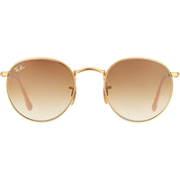 Ray Ban Round Metal RB3447 50mm matte gold / clear brown