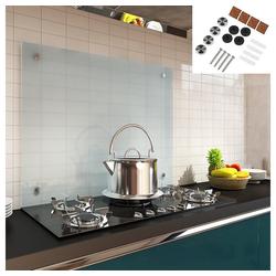 Mucola Küchenrückwand Glasrückwand Fliesenspiegel Herdspritzschutz Herdblende aus Glas Wandschutz, Inkl. Montagematerial 70 cm x 60