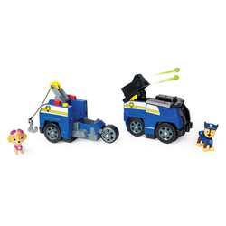 Spin Master Spielfigur Paw Patrol Chase 2 in 1 Polizeiauto mit Skye, (2-tlg), Paw Patrol Chase 2 in 1 Polizeiauto mit Skye