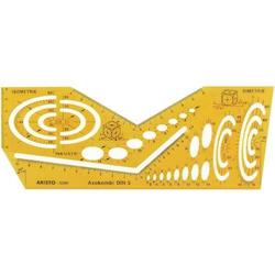 Schablone Axokombi I Isometrie und Dimetrie Ellipsen: 3 bis 60mm