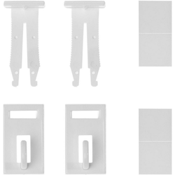 Klemmträger Klemmfix Haken, LICHTBLICK, Fensterdekoration, (Set, 2-tlg), für Fensterdekoration