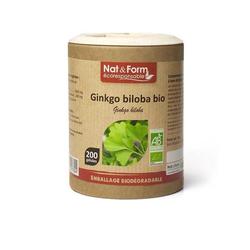 Nat & Form - Bio Ginkgo - 200 Kapseln