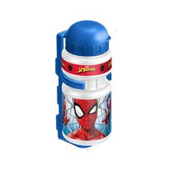 STAMP Trinkflasche Trinkflasche Spiderman mit Halter, 350 ml
