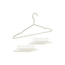 relaxdays Kleiderbügel 20 x Drahtbügel gold