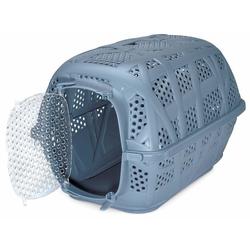 Katzenkorb Katzentransportbox Hundebox Kleintier Transportbox Reisebox blau
