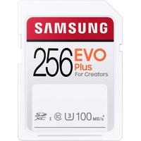 Samsung EVO Plus 256 GB SDHC UHS-I U3 100MB/s Full HD & 4K UHD Speicherkarte
