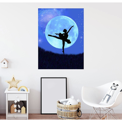 Posterlounge Wandbild, Ballerina Blaumond