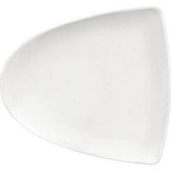 Bauscher Teller flach ENJOY, asymmetrisch, 213 x 194 mm, Höhe: 23 mm, uni weiss