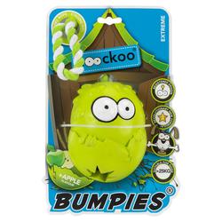 Coockoo Hundespielzeug Bumpies mit Seil Apfel, Maße: 13 x 10,2 x 8,8 cm