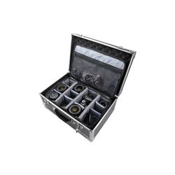 HMF Kameratasche 1844, Alu Fotokoffer, Kamerakoffer mit Kameratasche, 48 x 32 x 22,5 cm, schwarz Fotokoffer mit Kameratasche