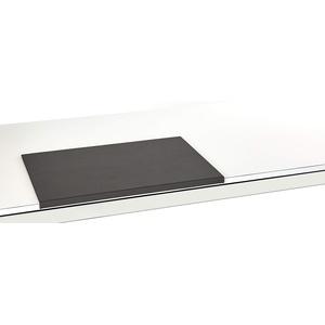 Luxentury Schreibtischunterlage Schreibunterlage Leder Kantenschutz: 58x39 cm Echtleder abgewinkelt Auflage schwarz rutschfest für Büro USO580390