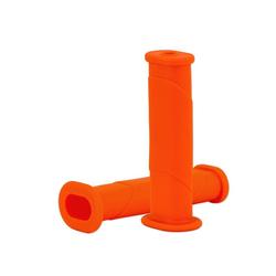 BigDean Schubkarre 2x Schubkarrengriffe Oval 35mm Kunststoff Karrengriff Schiebkarre Schubkarrengriffe Sackkarre orange