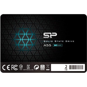 """Silicon Power SSD 2TB 3D NAND A55 SLC Cache Performance Boost 2.5 inch SATA III 7mm (0.28"""") Internal Solid State Drive"""