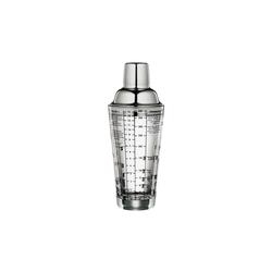 Cilio Cocktail Shaker Cocktailshaker mit Rezepten, Edelstahl und Glas, Shaker