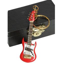 Ambiente Haus Dekofigur Schlüsselanhänger E-Gitarre rot 7cm (1 Stück)