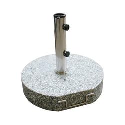Sonnenschirmständer / Schirmständer rund 45cm Granit 40 kg Rollen