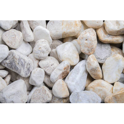 Marmor Kristall Gelb getrommelt, 20-50, 250 kg Big Bag