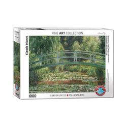 EUROGRAPHICS Puzzle Puzzle 1000 Teile-Japanische Brücke, Puzzleteile