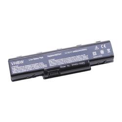 vhbw Akku passend für Emachines D525, Emachines D725, Gateway NV52, Gateway NV5207U Laptop Notebook - (Li-Ion, 4400mAh, 11.1V, 48.84Wh, schwarz)