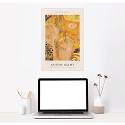 Posterlounge Wandbild, Klimt - Art is erotic 40 cm x 60 cm