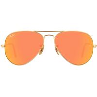 Ray Ban Aviator Flash Lenses RB3025 55mm gold / orange flash