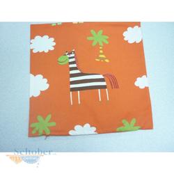 Kissen Bezug Kissenhülle für Kinder - Tiere orange, 40 x 40 cm