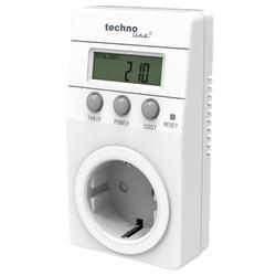 technoline Cost Control Energiekostenmessgerät Stromadapter, Stromverbrauchszähler, Energiemesser, Stromzähler, Steckdose, Digital, LCD, Display, weiß